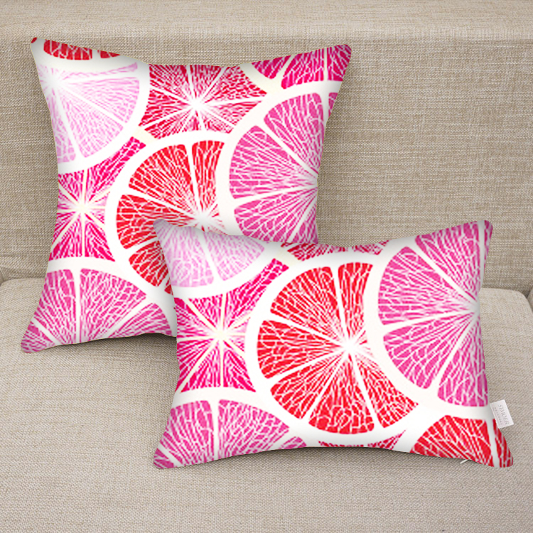 Custom Printed Throw Pillow Cases : Custom Personalized Grape Fruit Print Decorative Pillow Case on Luulla