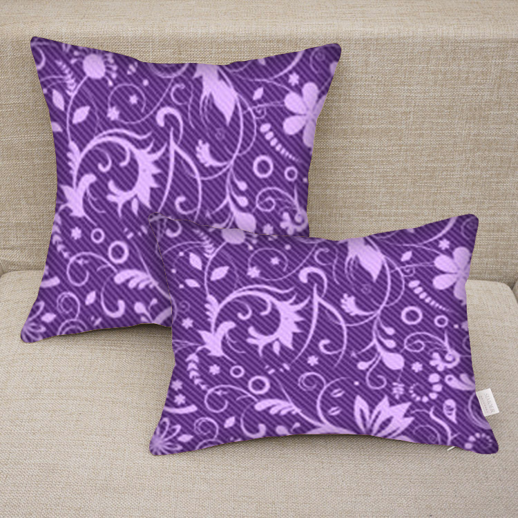 Custom Printed Throw Pillow Cases : Custom Personalized Purple Floral Print Decorative Pillow Case on Luulla