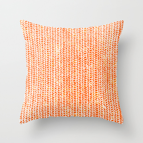 Custom Throw Pillow Cases : Custom Personalized Monogram Orange Print Decorative Pillow Case on Luulla